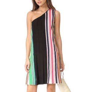 DVF One Shoulder Ribbon Dress